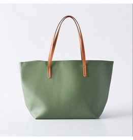 Boon Supply Vegan Leather Tote - Army Green