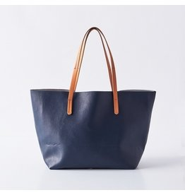 Boon Supply Vegan Leather Tote -  Navy
