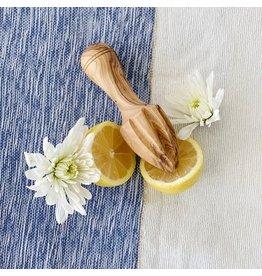 "Olive Wood Lemon Squeezer 6"""
