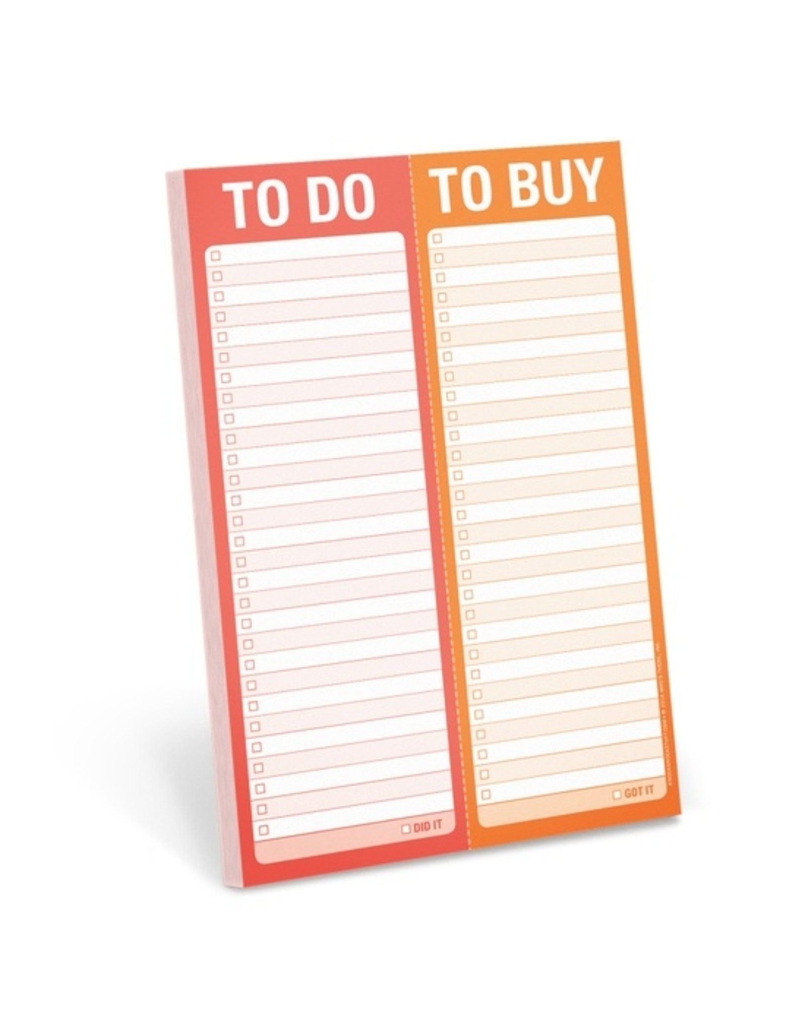 Knock Knock To Do/To Buy Perforated Pad