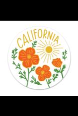 Paper Parasol Press California Poppy Sun White Sticker