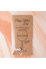 Em And Me Studio Father's Day Wine Charm Card - Marble White