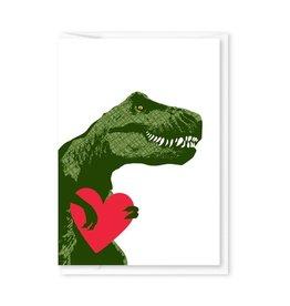 Modern Printed Matter Trex Heart Valentine Enclosure Card