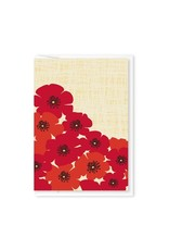 Modern Printed Matter Poppies Enclosure Card