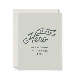 Ruff House Print Shop Super Hero Dad Card