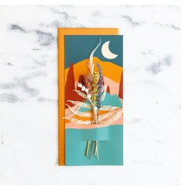 Lucca Mountains - Dried Floral Card