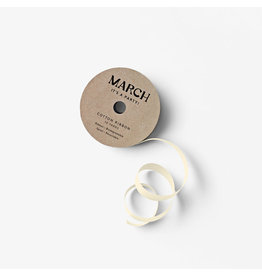 March Party Goods Cotton Ribbon - Cream