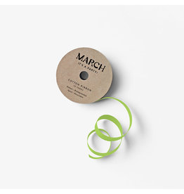 March Party Goods Cotton Ribbon - Lime