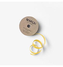 March Party Goods Cotton Ribbon - Yellow