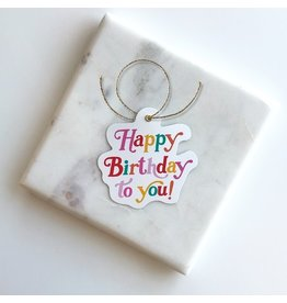 Colorful Birthday Gift Tags
