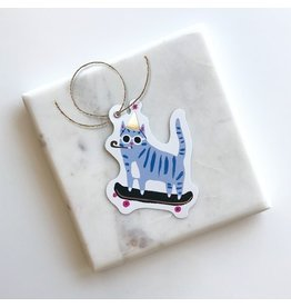 Skater Cat Gift Tags