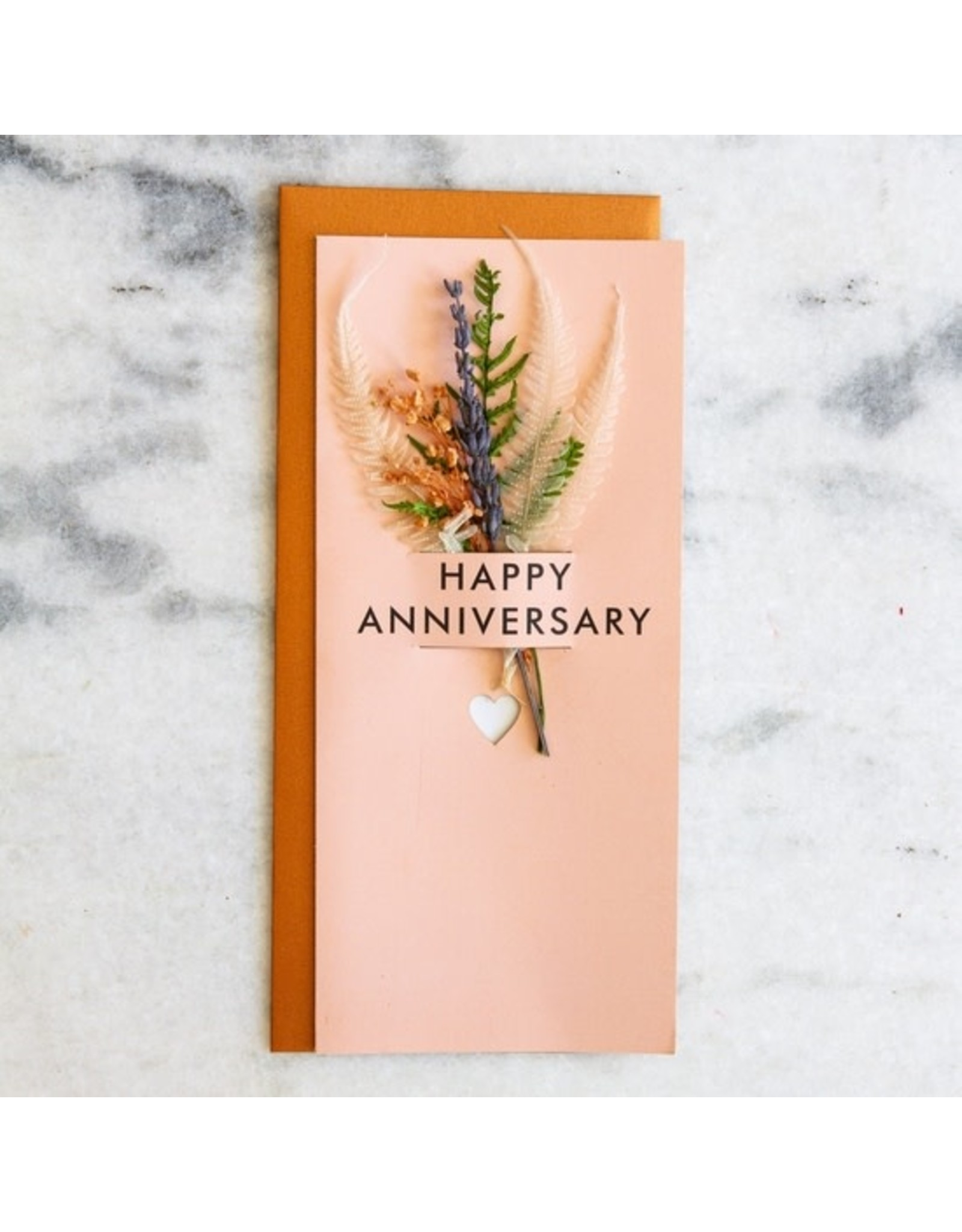 Lucca Happy Anniversary - Dried Floral Card