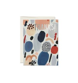 Paint Palette Thank You Card
