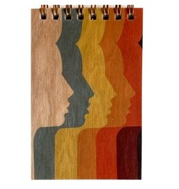 Spitfire Girl Wood Notepad - 70's Ladies