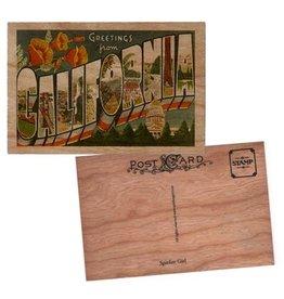 Spitfire Girl Greetings California Wood Postcard