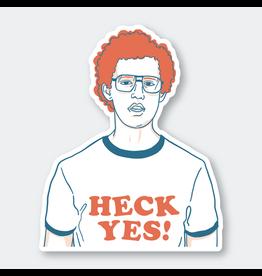 Pike Street Press Heck Yes Sticker