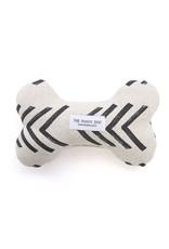 Modern Mud Cloth Dog Bone Squeaky Toy