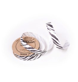 Wrappily Eco Gift Wrap Ribbon - Animal Prints, Zebra