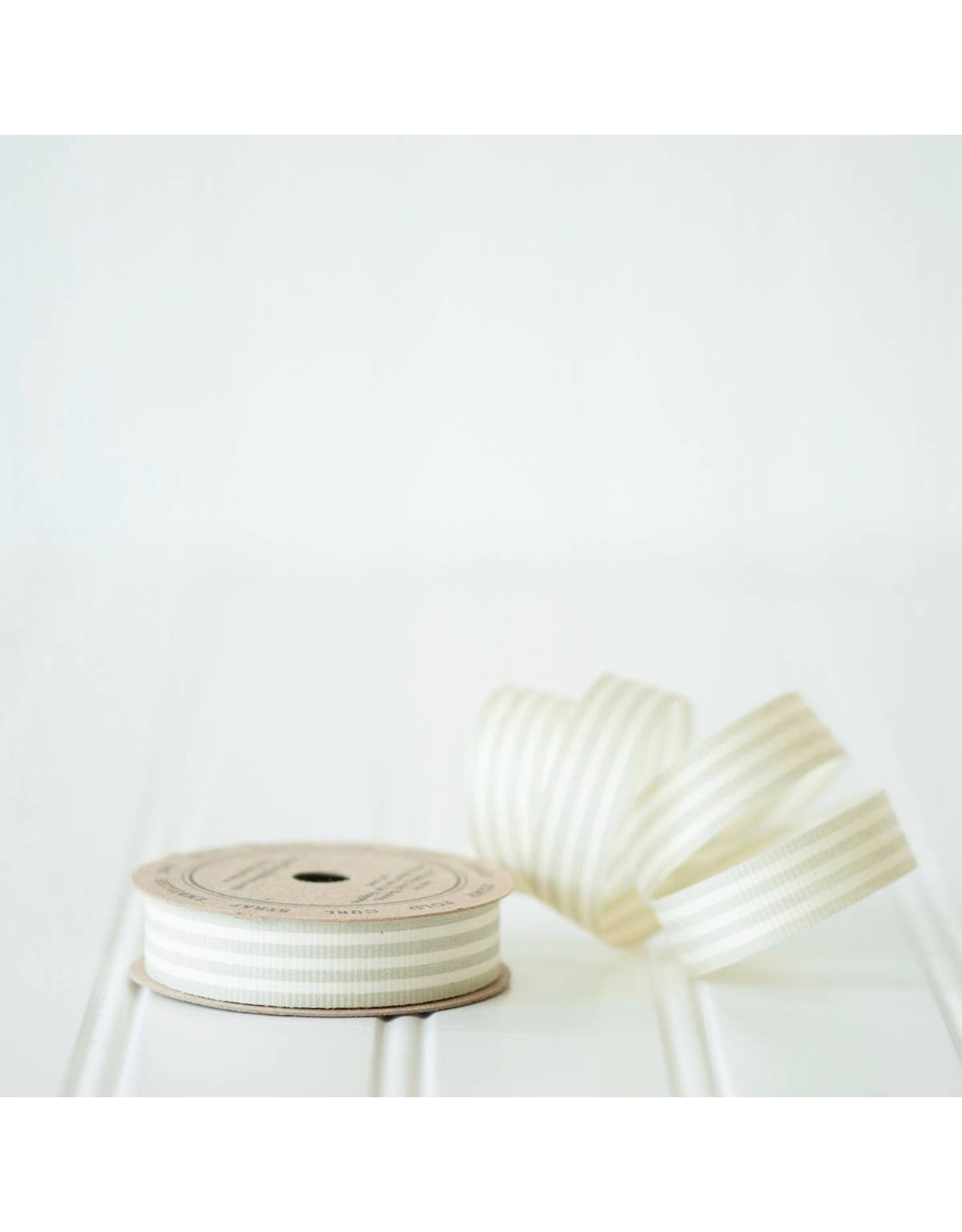 Ribbon - Grey & Cream Stripe