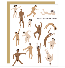 Egg Press Birthday Suit Card