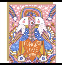 Egg Press Love Birds Card