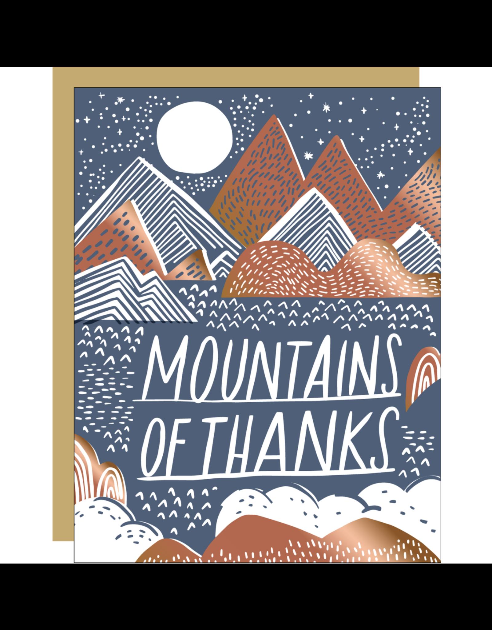 Egg Press Mountains Of Thanks Card