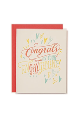 Ladyfingers Letterpress Congrats On Your Engaygement Card