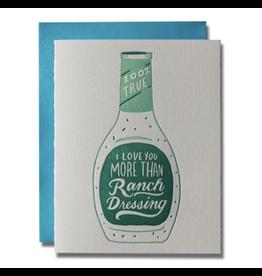 Ladyfingers Letterpress Ranch Dressing Card
