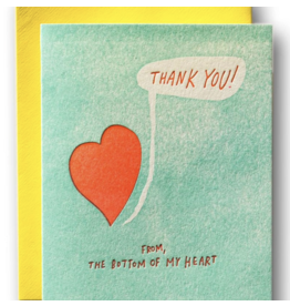 Ladyfingers Letterpress Thank You From The Bottom Of My Heart