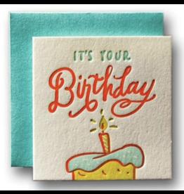 Ladyfingers Letterpress Tiny Birthday Card