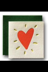 Ladyfingers Letterpress Tiny Heart Card