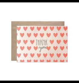 Hartland Brooklyn Thank You Neon Hearts Card