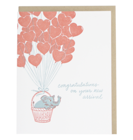 Elephant and Balloons Card