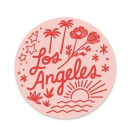 Paper Parasol Press Los Angeles Sticker - Pink