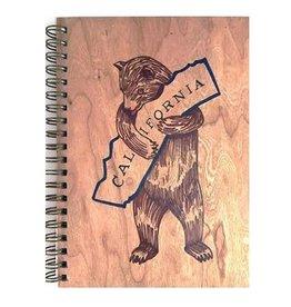Spitfire Girl Cali Bear - Wood Notebook