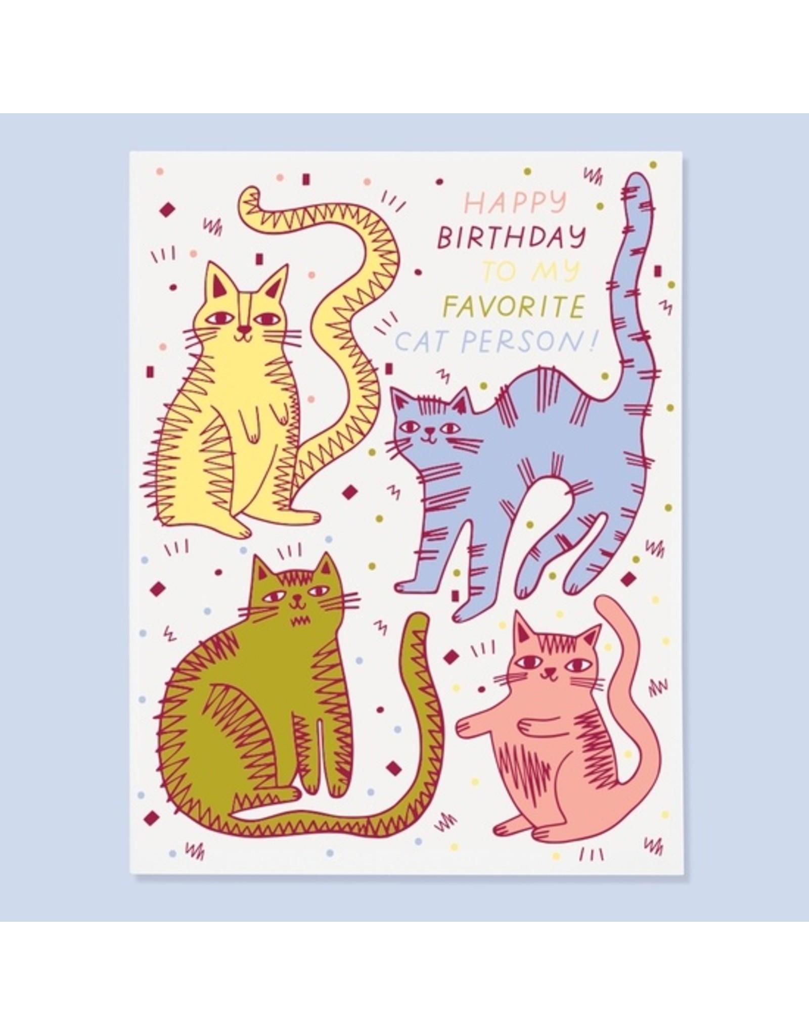 Cat Person Birthday Card