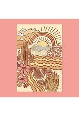California Pin + Postcard