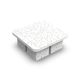 Extra Large Ice Cube Tray - Speckled White