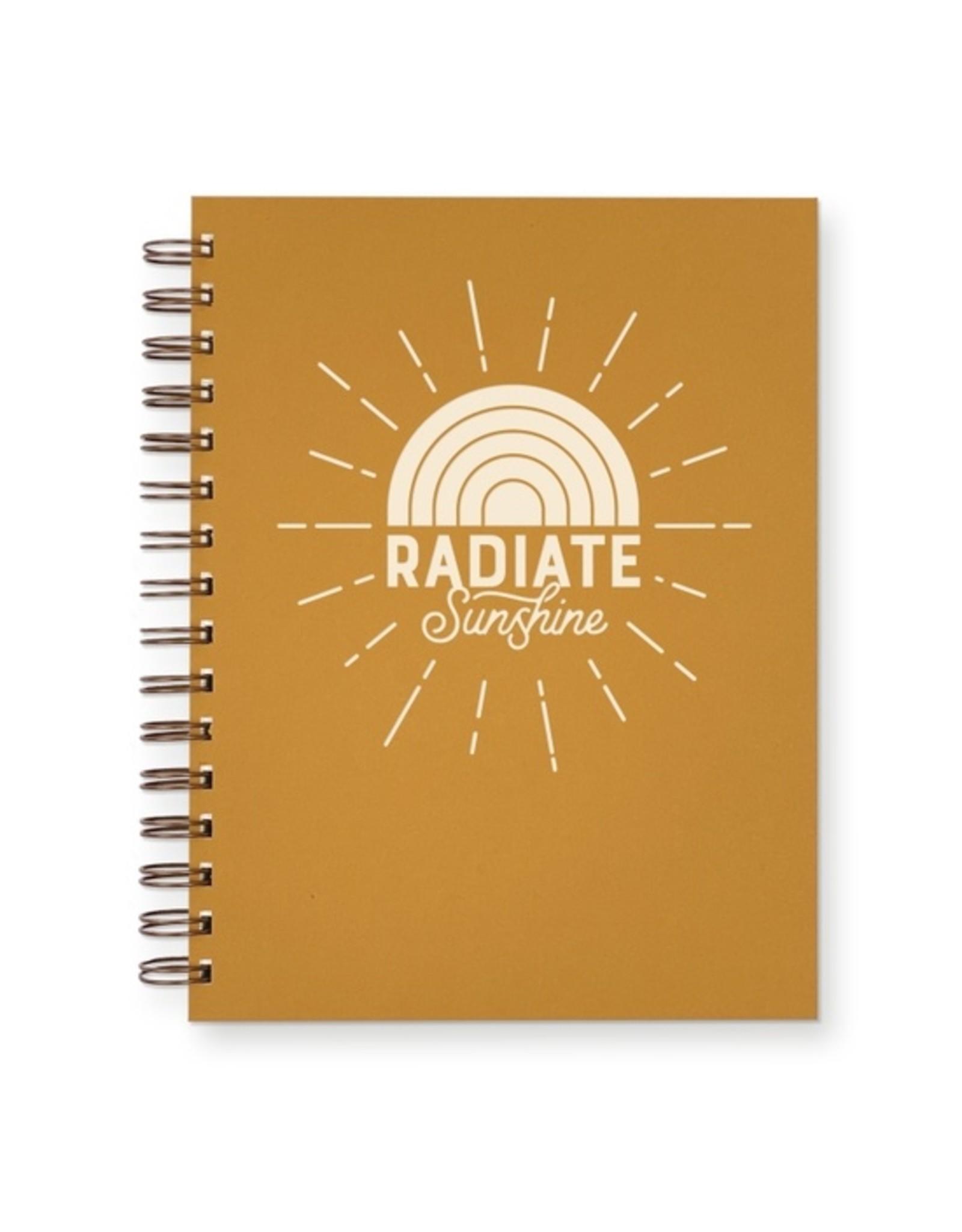 Ruff House Print Shop Radiate Sunshine Lined Notebook