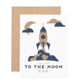 Ruff House Print Shop Moon & Back Card