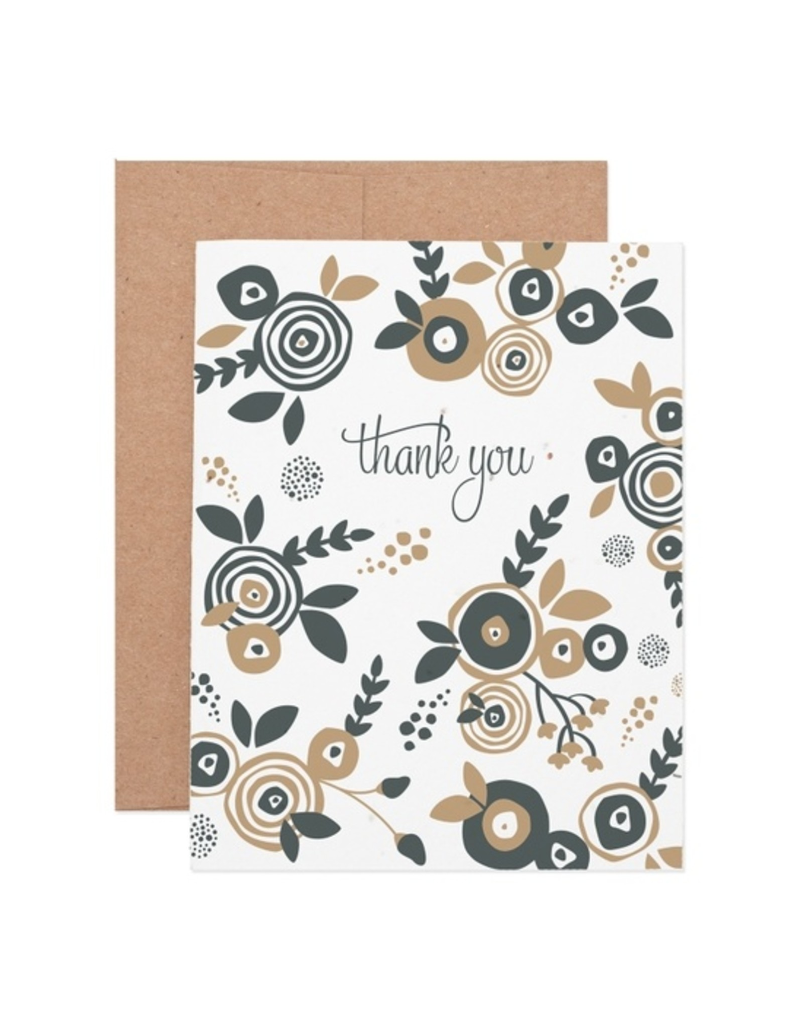 Ruff House Print Shop Flower Thank You Seeded Plantable Card