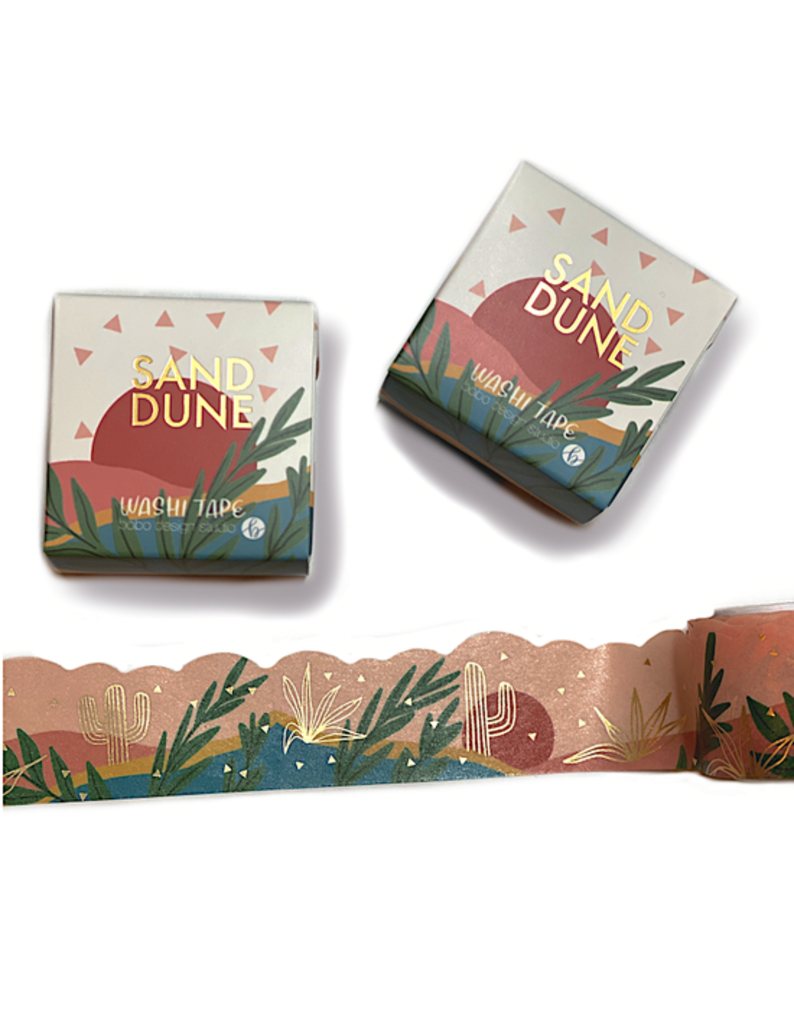 Bobo Design Studio Sand Dune - Gold Foil Cloud Cut Washi Tape