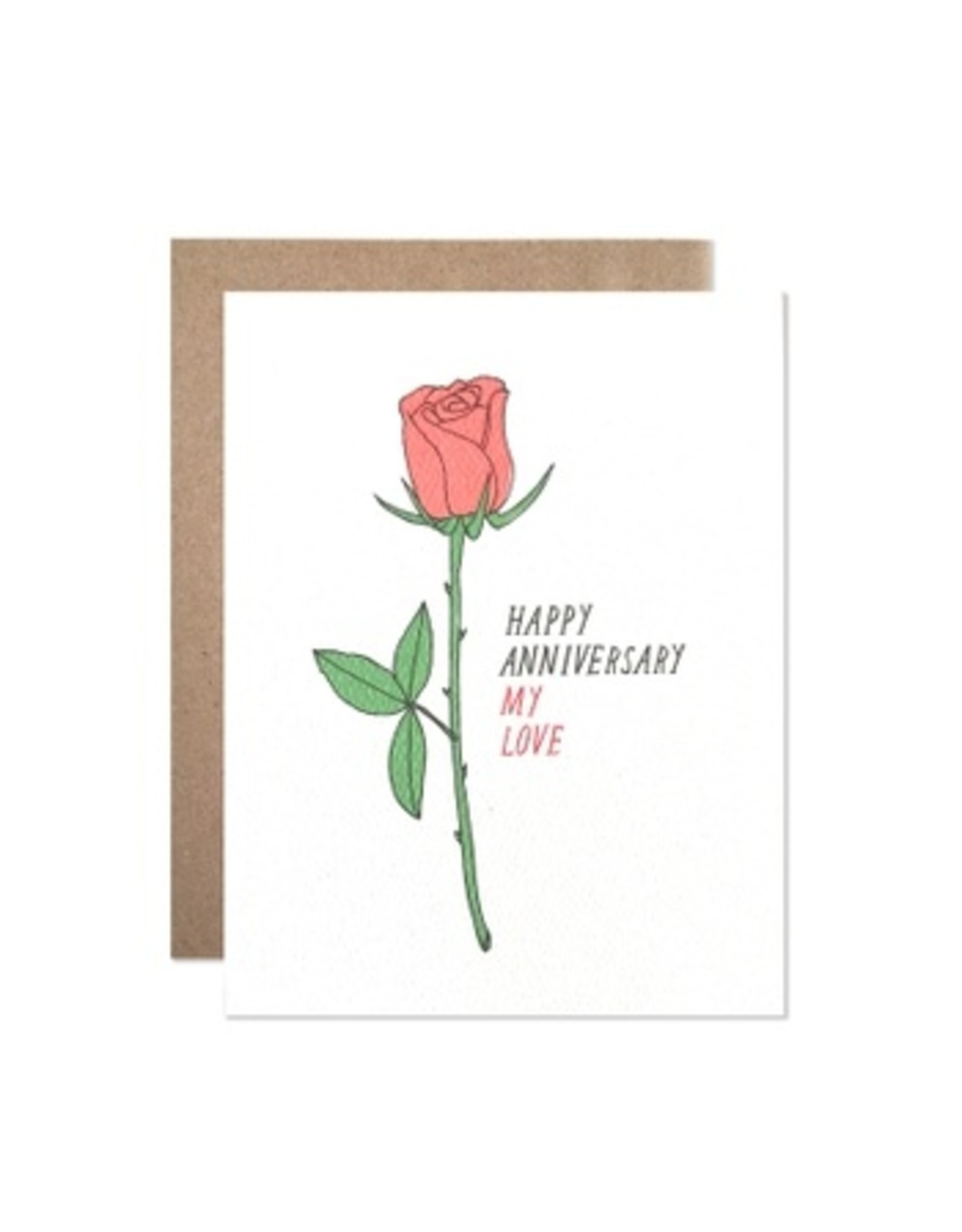 Hartland Brooklyn Anniversary Rose Card