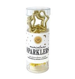 Mini Gold Sparklers Star in Tube