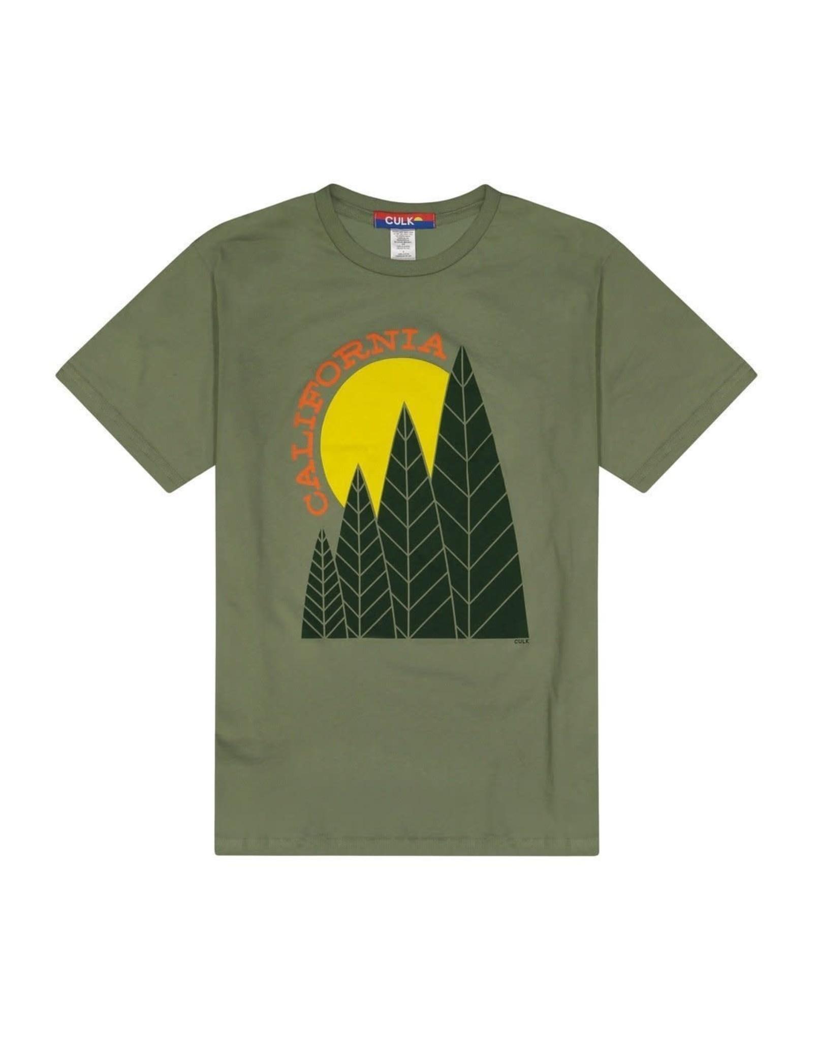 Culk California Tree Sun Tee - Olive