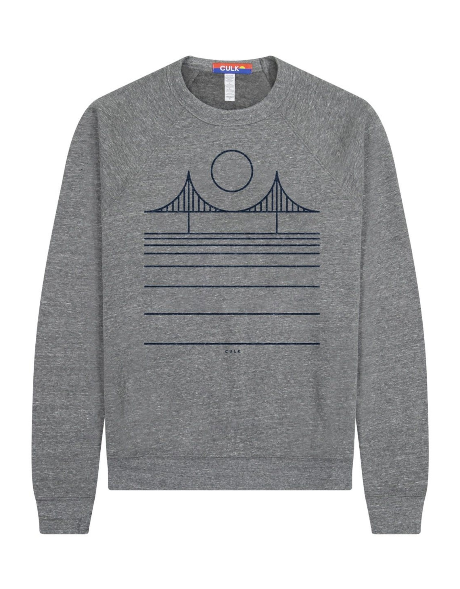 Culk Minimal Bridge Crewneck Sweatshirt - Grey