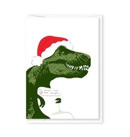 Modern Printed Matter TREX Santa Enclosure Card
