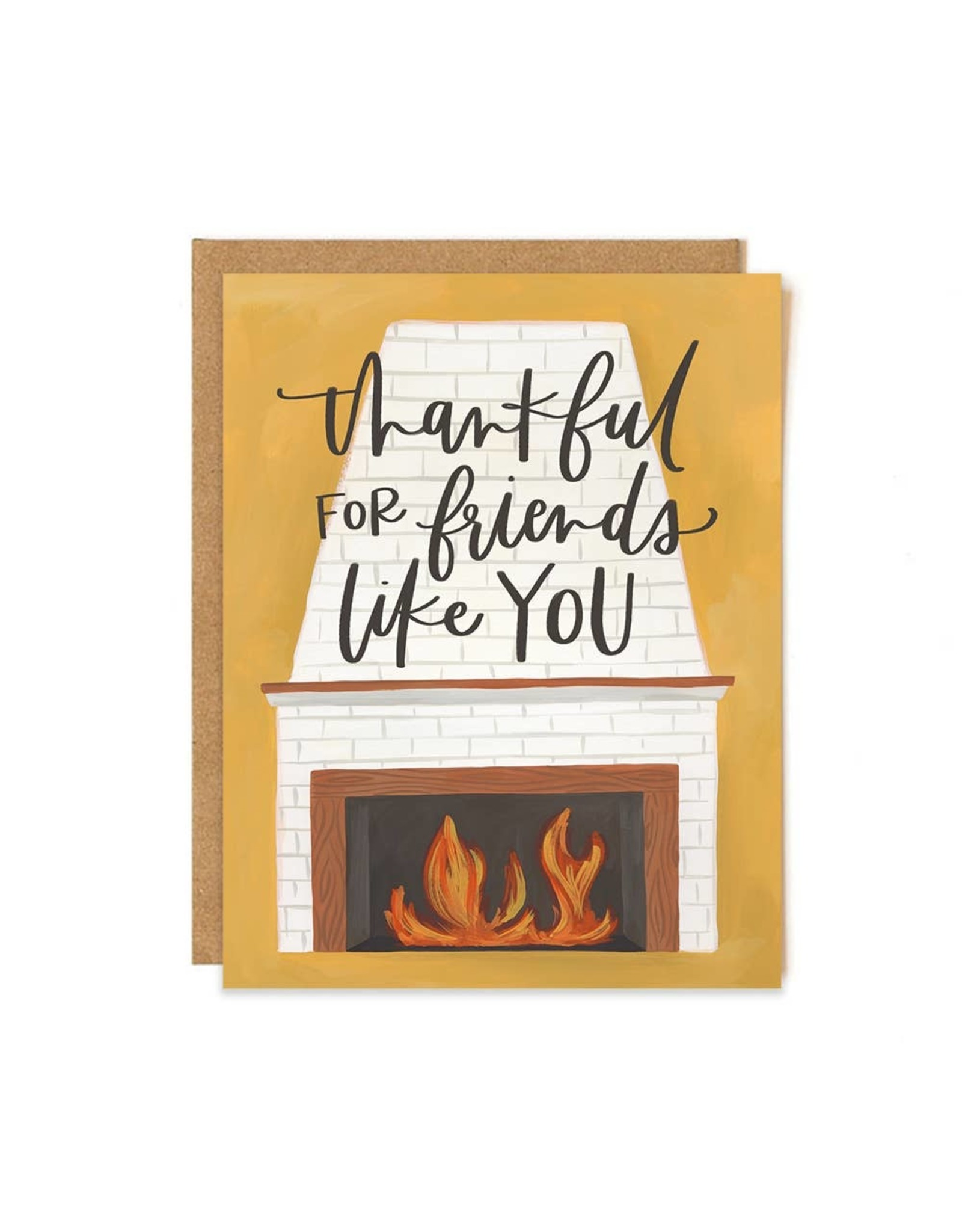 Friend Fireplace Card