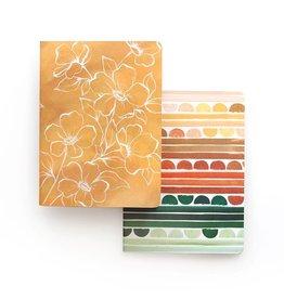 Golden Poppy Slim Notebook Set
