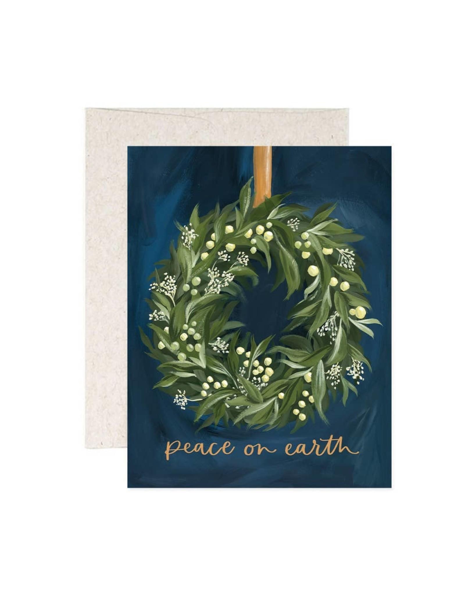 Wreath Peace Card